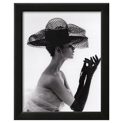 Art.com Madame Paulette Net Hat, c.1963 by John French - Framed Art Print