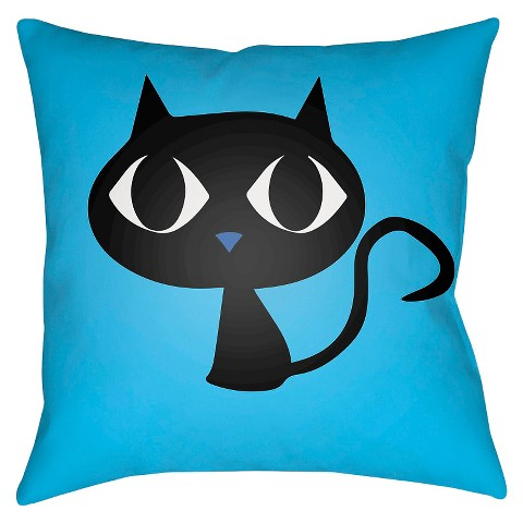Small Black Decorative Pillow : Little Black Cat Throw Pillow - Surya : Target