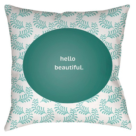 Hello Beautiful Decorative Pillow : Hello Beautiful Throw Pillow - Surya : Target