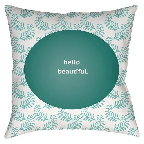 Hello Beautiful Throw Pillow - Surya : Target