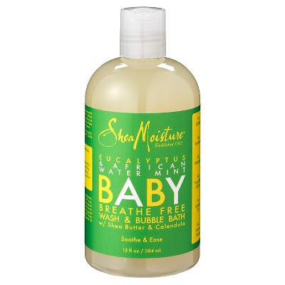 SheaMoisture Eucalyptus & African Wild Water Mint Baby Breathe Free Wash & Bubble Bath - 13 oz