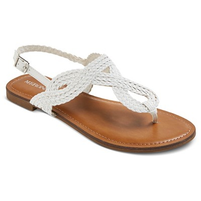 Women's Jana Thong Sandals - White - 6 - Merona™