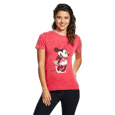 Minnie Graphic Tee Athletic Red (L) - Disney