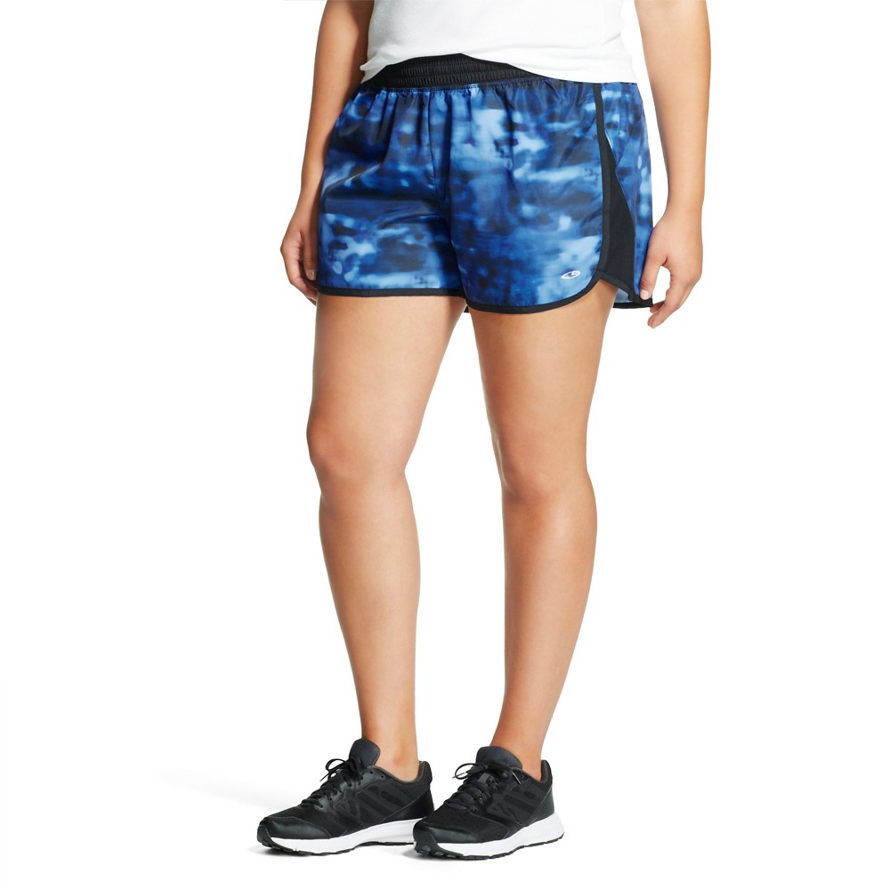 Plus Size C9 Champion Women's Plus Run Short, Plaster Blue
