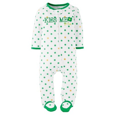 Just One You™ Made by Carter's®  Baby Girls' Kiss Me Footed Sleeper - White NB