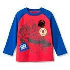 Toddler Boys' Spiderman Henley Long Sleeve T-Shirt - Red & Blue