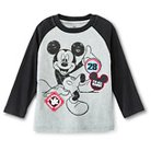 Toddler Boys' Mickey Mouse Henley T-Shirt long Sleeve - Grey