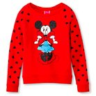 Minnie Mouse Girls' Pullover Sweater Red