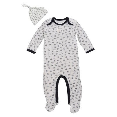 Burt's Bees Baby Newborn Coveralls - Blueberry 3-6 M