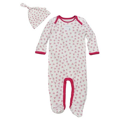 Burt's Bees Baby Newborn Coveralls - Strawberry 0-3 M