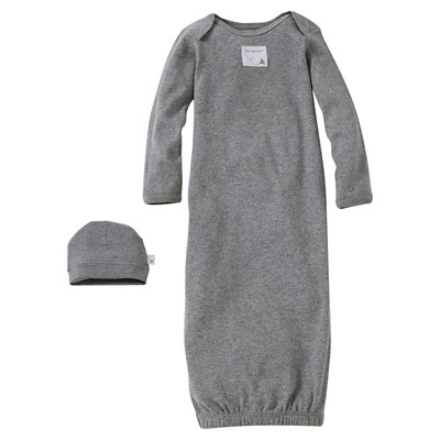 Burt's Bees Baby™ Newborn Nightgown - Heather Grey 0-9 M