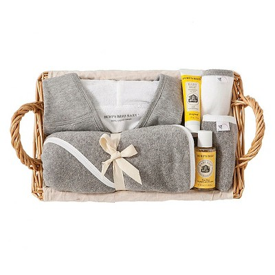 Burt's Bees Baby™ Newborn Bath Towel Set - Grey