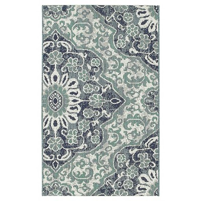 5'x7' Outdoor Rug - Blue Batik - Threshold™