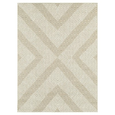 7'x10' Outdoor Rug - Tan Geo - Threshold™