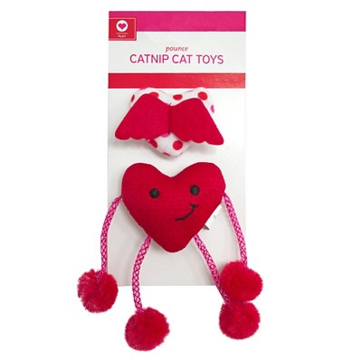Heart with Springs and Heart with Wings Cat Toy -2pk - Boots & Barkley™