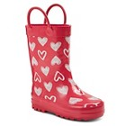 Toddler Girls' Davine Hearts Rain Boots - Pink