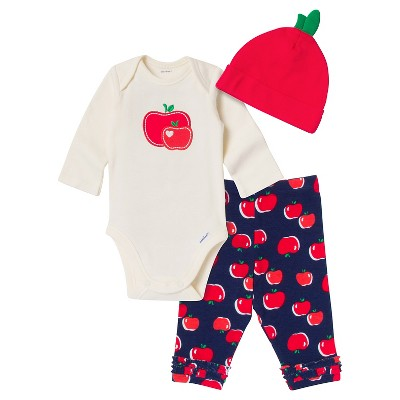 Gerber® Baby Girls' Top And Bottom Sets Red 0-3 M