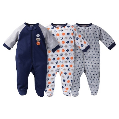 Gerber® Onesies® Baby Sleep N' Play Footed Sleepers - Sports Navy 3-6 M