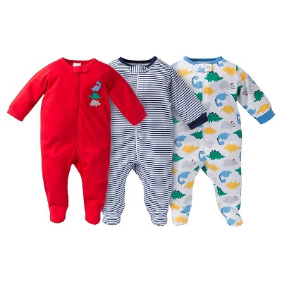 Gerber® Baby Sleep N' Play Footed Sleepers - Dinosaur Print Red 42435 M