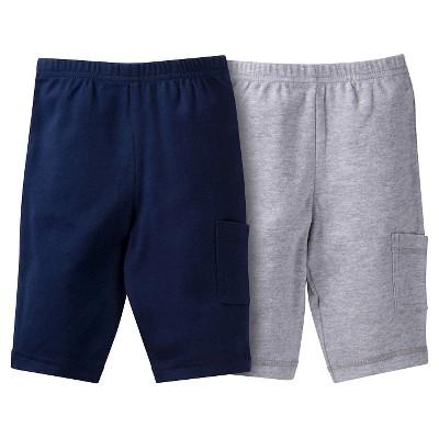 Gerber® Baby Boys' 2pk Pant - Navy/Grey 0-3 M