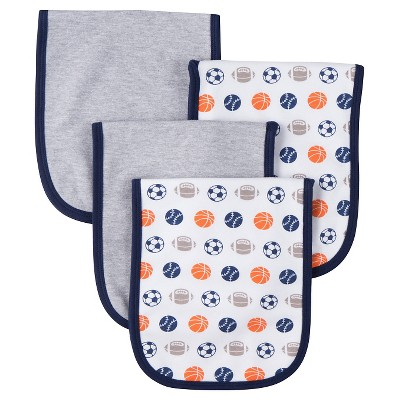 Gerber® Boys' 4 pack Burp Cloth - Sports Navy One Size
