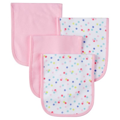 Gerber® Onesies® Girls' 4 pack Burp Cloth - Owl Print Pink One Size