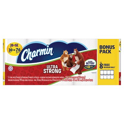 Charmin Ultra Strong Bonus Pack 30 Rolls