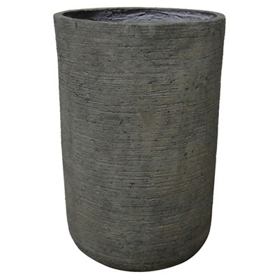 "Threshold™ Round Textured Concrete Planter (21"")"