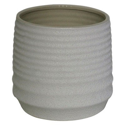 Ribbed Tabletop Planter Large White - Threshold™