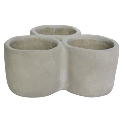 Concrete Herb Trio Pot - Threshold™