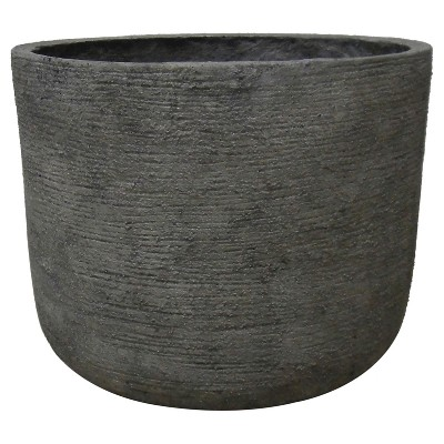 "Round Textured Concrete Planter 12"" - Gray - Threshold™"