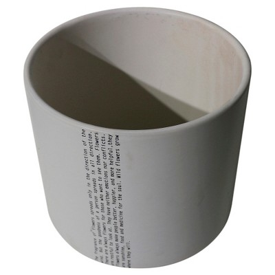 Ceramic Inspirational Planter, Buff Beige - Threshold™
