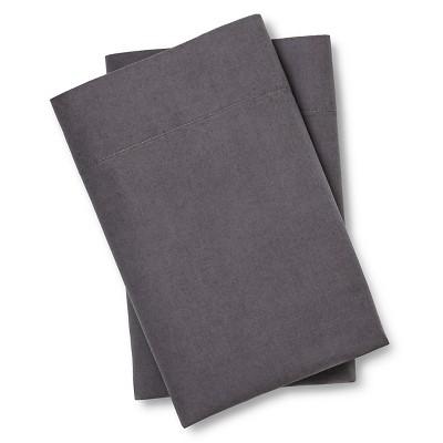 Vintage Washed Pillowcase Set (Standard) Radiant Gray - Threshold™