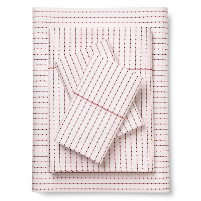 Brooklyn & Bond™ Poplar Dot Sheet Set Twin White&- Red