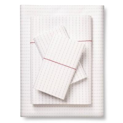 Brooklyn & Bond™ Poplar Dot Sheet Set Twin Extra Long White&- Gray