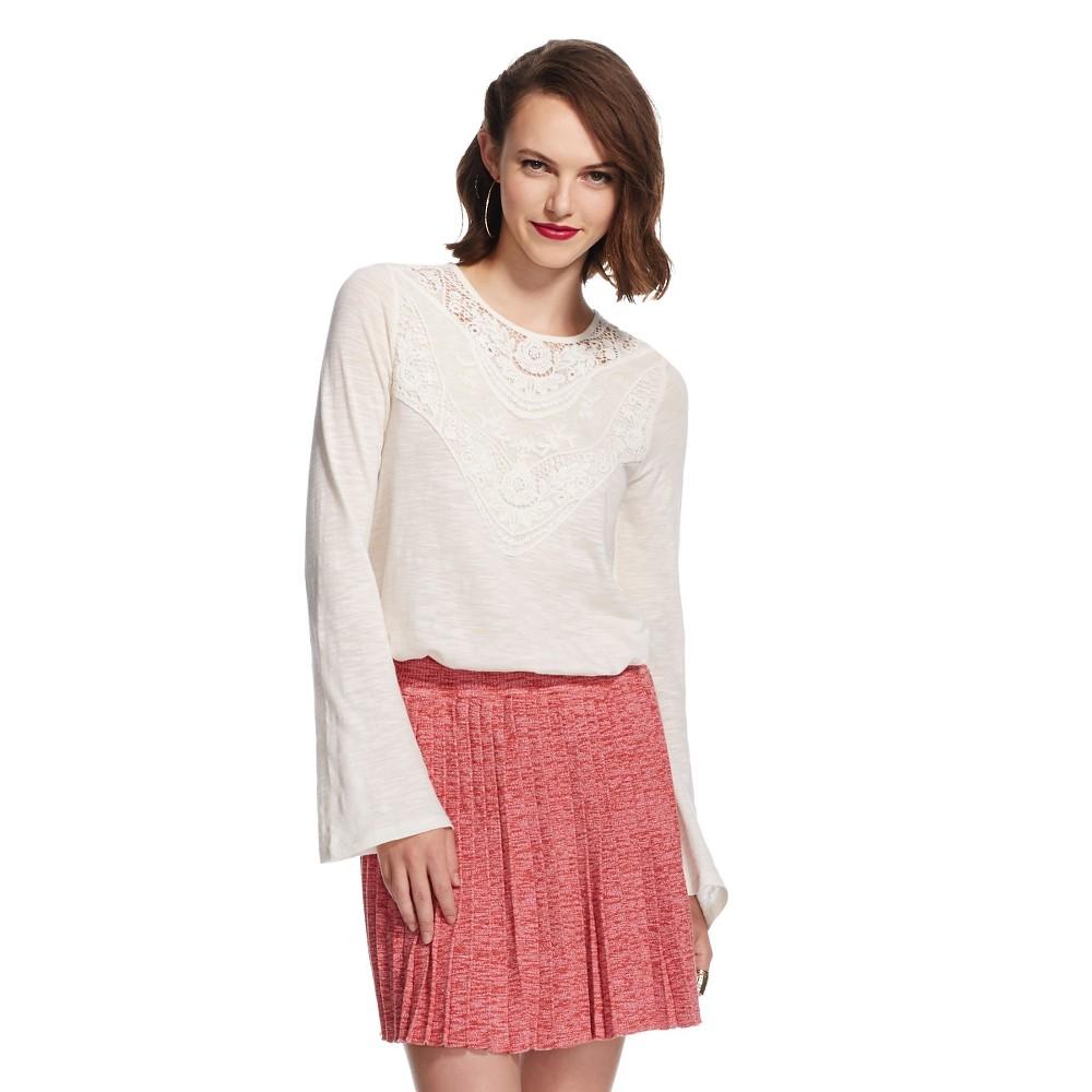 Women's Long Sleeve Tee Xhilaration (junior's), Size: Xxl, Ivory