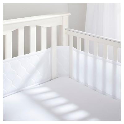 BreathableBaby® Deluxe Embossed Mesh Crib Liner - White