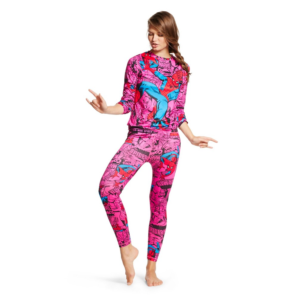 Spiderman Women's Thermal Sleep Set - Spiderman L, Size: Large, Multi-Colored