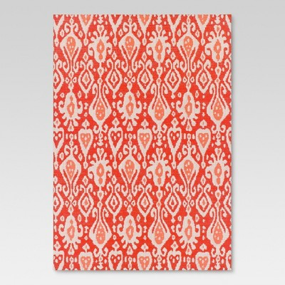 "30""x50"" Outdoor Rug - Red Ikat - Threshold™"