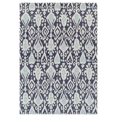 "30""x50"" Outdoor Rug - Blue Ikat - Threshold™"