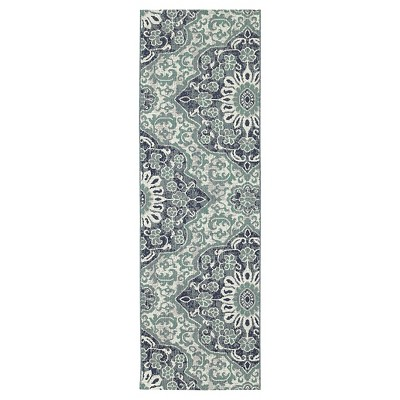 "30""x50"" Outdoor Rug - Blue Batik - Threshold™"