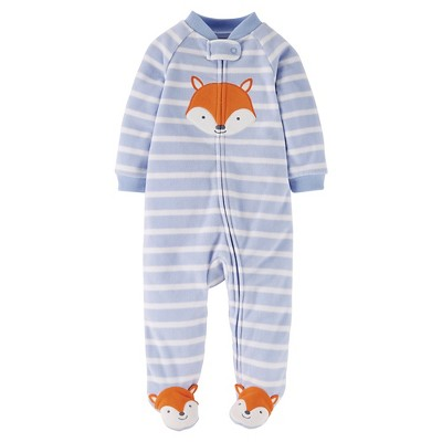 Just One You™ Made by Carter's® Sleep N Play Light Blue Fox 9 M
