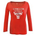Chicago Bulls Women's Long Sleeve Scoop Neck Tee S