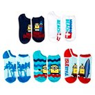 Despicable Me™ Surf Minions Women's 5-Pack No Show Socks - Beach Blue 9-11