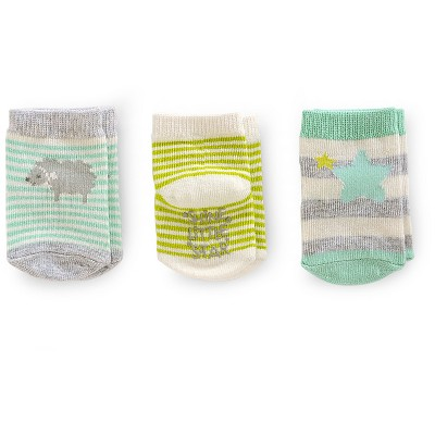 Just One You™ Made By Carter's® Toddler Girls' 3-Pack Sheep Casual Sock - White/Green/Gray 0-3 M