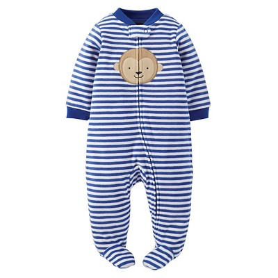 Just One You™ Made by Carter's® Sleep N Play Navy Stripe Monkey NB
