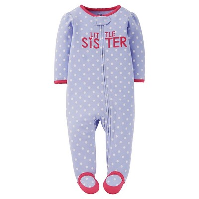 Female Footed Sleepers Just One You NB Polka Dot Pink