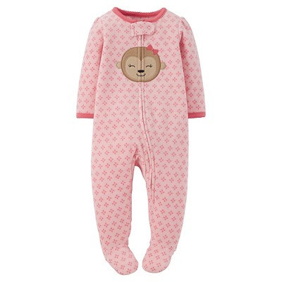 Female Footed Sleepers Just One You 6 M Winter Pink