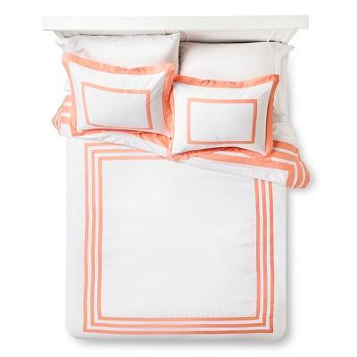 Hotel Desert Flower Comforter Set (Full/Queen) Coral - Xhilaration™