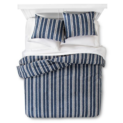 Edison Comforter and Sham Set (Queen) Navy 3pc - The Industrial Shop™